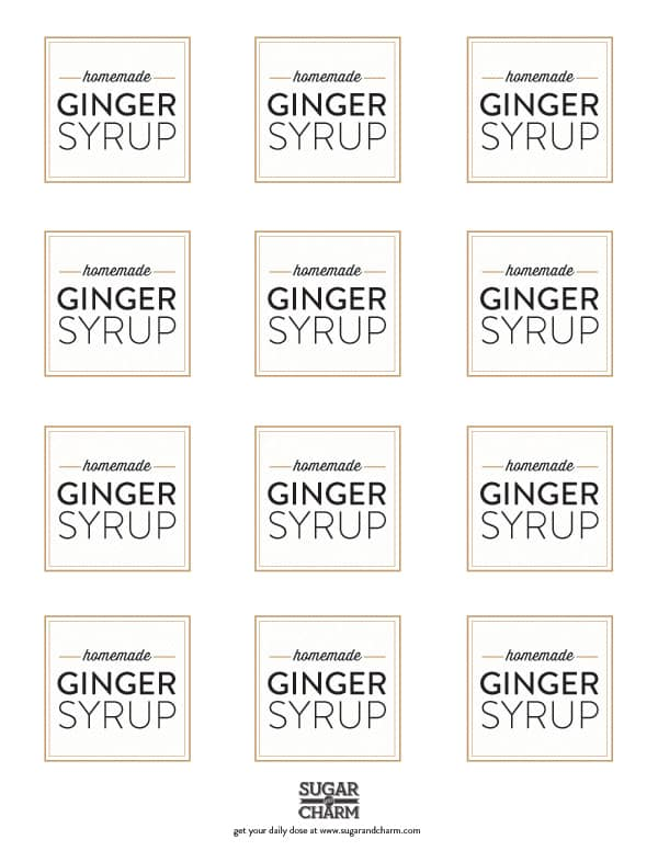 GingerSyrupLablePrintable