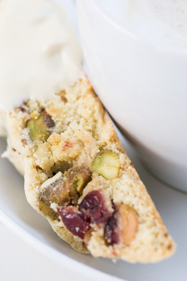 Holiday Biscotti with Cranberry and Pistachios - Sugar and Charm ...