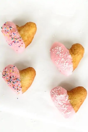 delicious heart shaped donut recipe