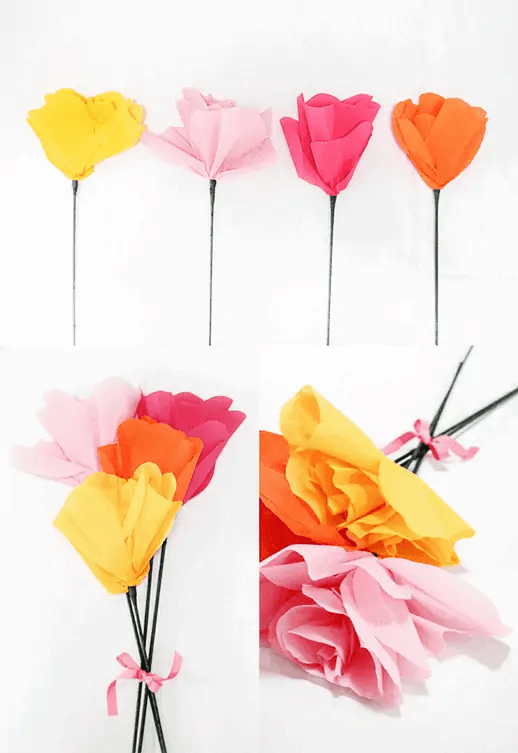 DIY Giant Paper Flower Bouquet - Sugar & Cloth - Houston Blogger - DIY
