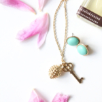 DIY Golden Charm Necklace