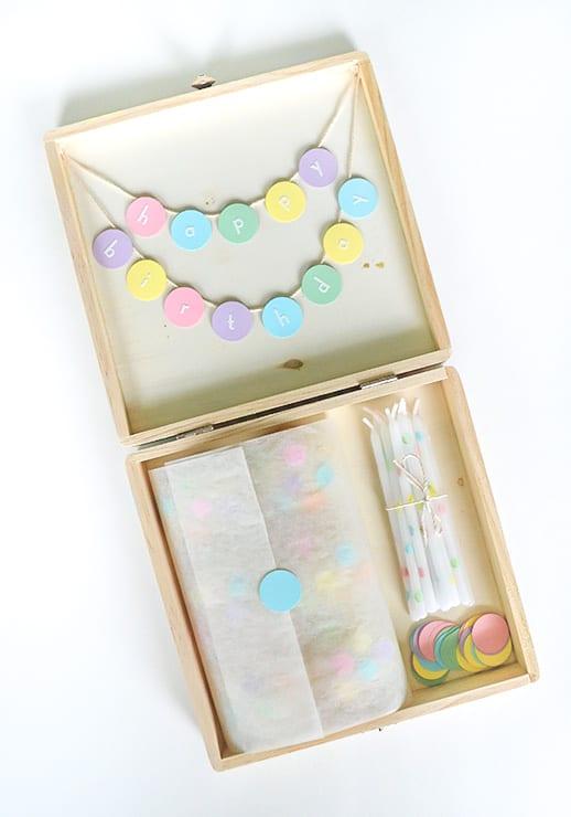 DIY Confetti Birthday Box - Sugar & Cloth - Hosting & Entertaining - DIY Gift - Houston Blogger