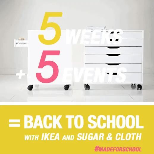 DIY Back To School Events with Ikea - Sugar & Cloth - Houston Blogger - DIY Event