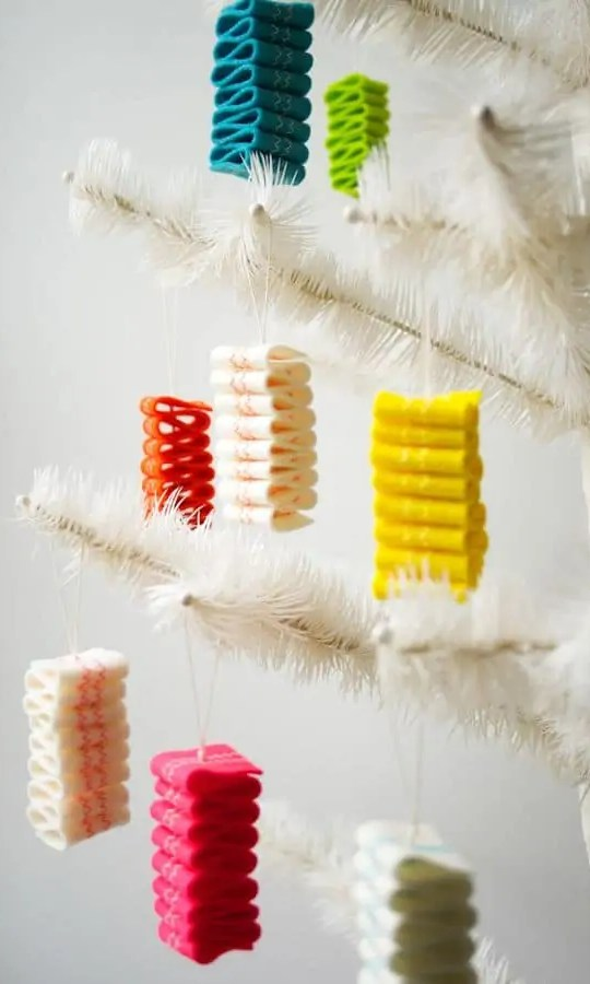 Merry and very bright holiday DIY's - Sugar & Cloth - DIY felt candy ornaments by the Purl Bee