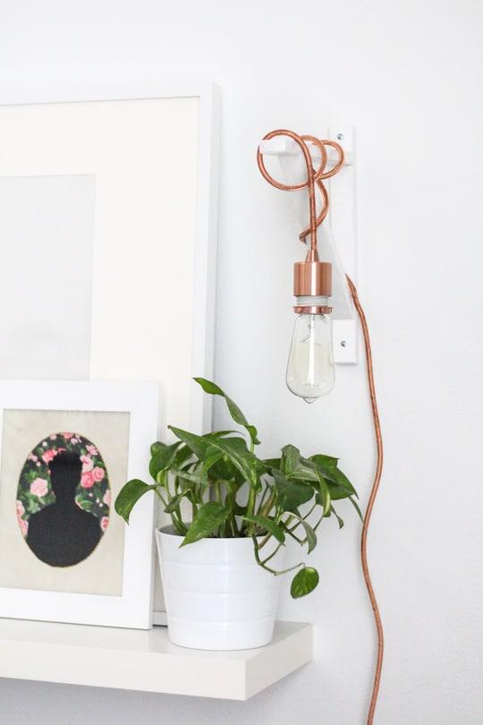 DIY: Metallic Pendant Sconce - Sugar & Cloth - DIY