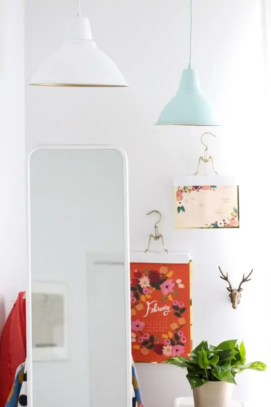 DIY golden pendant lights