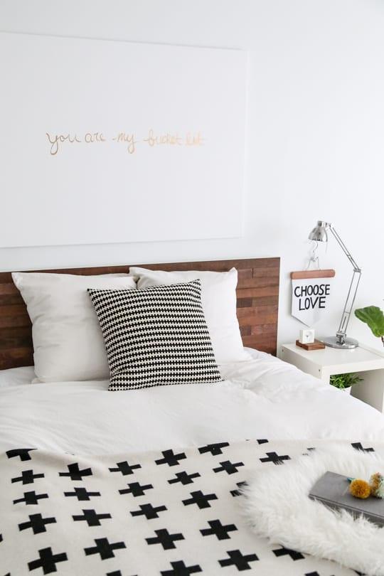 Ikea Bed Hack Diy Wooden Headboard With Stikwood Sugar