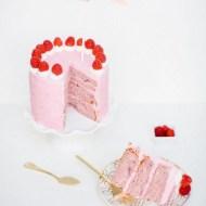 Cute as a button raspberry cake - Sugar and Cloth