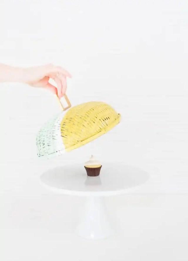 DIY colorblock food domes | sugarandcloth.com
