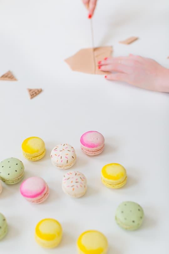 DIY ice cream cone macarons | sugar & cloth
