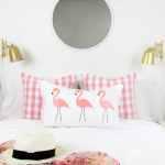 DIY No-sew Flamingo Lumbar Pillow