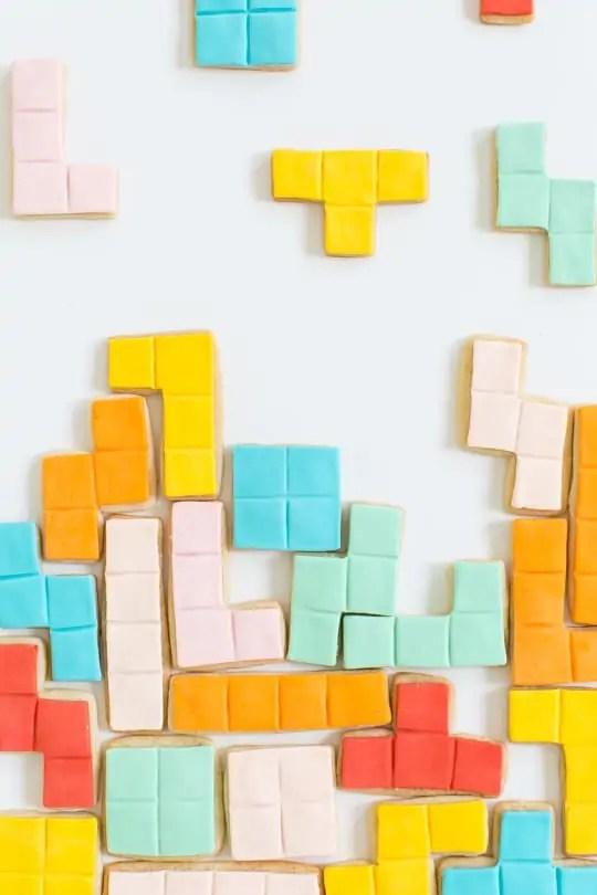 DIY Tetris Cookies | Sugar & Cloth