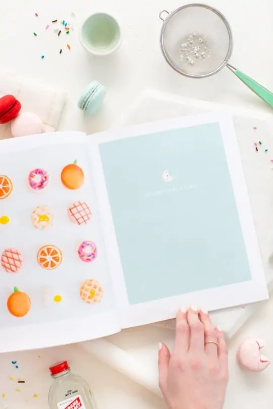 Glossary of Macarons coffee table book with Blurb - Sugar & Cloth