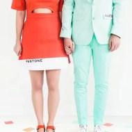 Hipster Halloween: DIY Pantone Color Combo Couples Costume - Sugar & Cloth