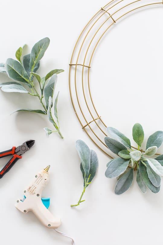 Simple DIY Geometric Wreath - Sugar & Cloth