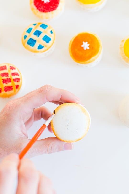 DIY Pie macarons - Sugar & Cloth