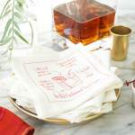 DIY Recipe Cocktail Napkins