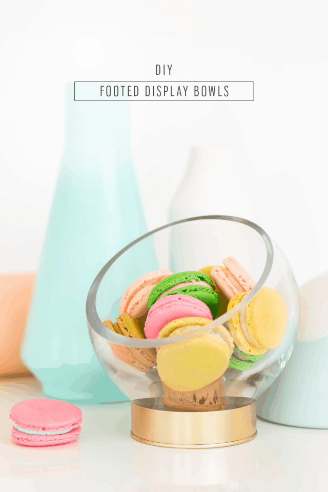 DIY footed serving bowls perfect for Spring and Summer entertaining ideas! - sugar and cloth