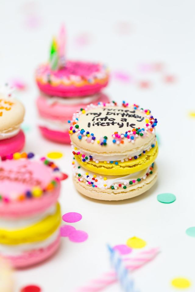 Because Drake on Cake Inspired Birthday Cake Macarons just needed to be a real thing! - sugar and cloth - quotes - lyrics