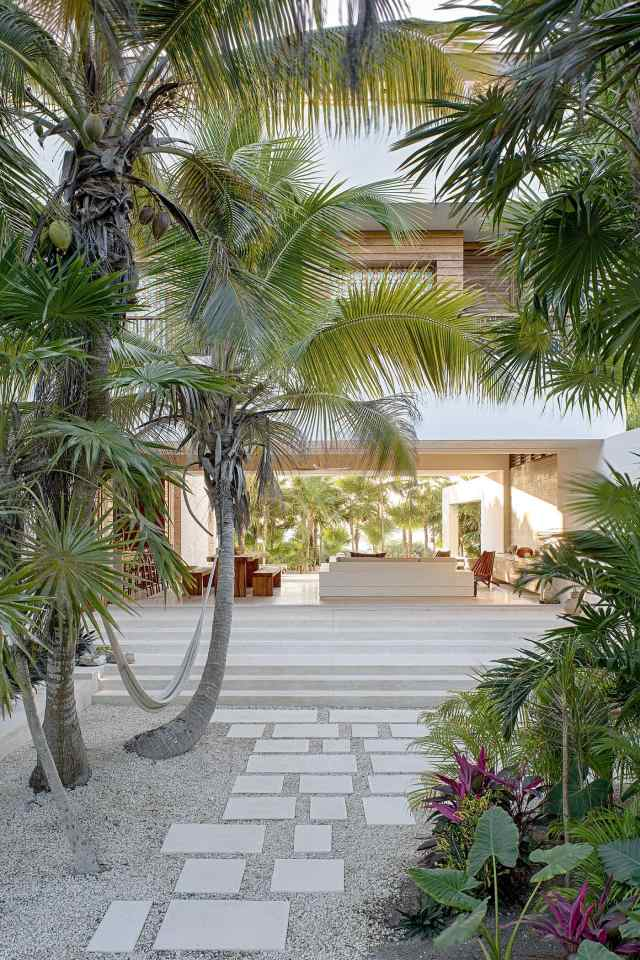 Super cool, modern beach front villa in Tulum