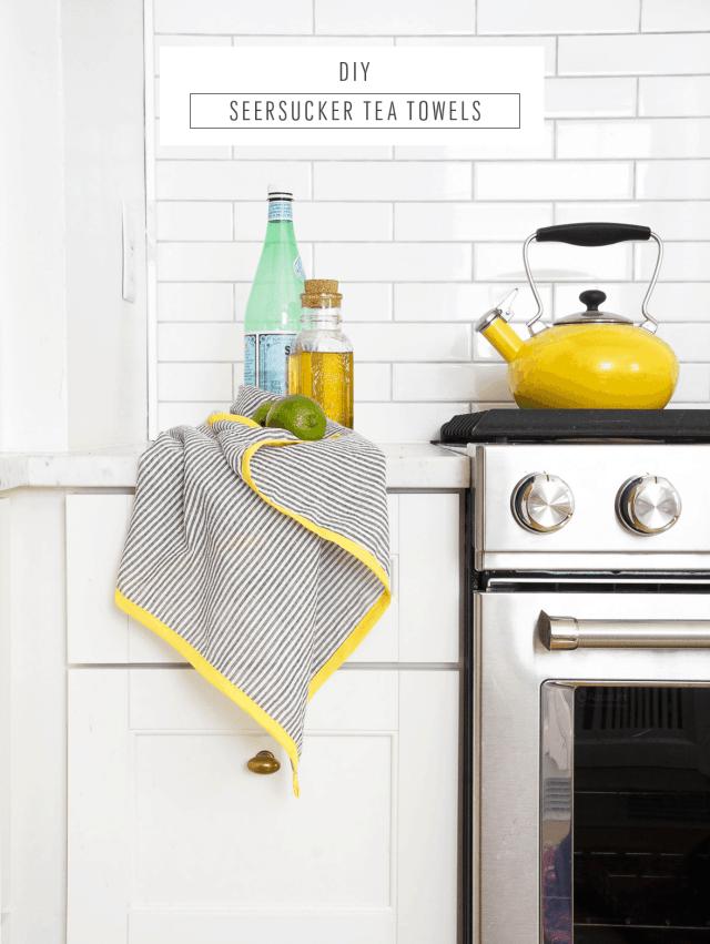 DIY Searsucker Tea Towels-7