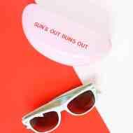 Sun's out, buns out! DIY retro sunglasses case on Sugar & Cloth!