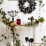Spooky Diy Floral Halloween Bar Cart Sugar Cloth Holiday Decor