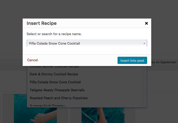 Recipe error