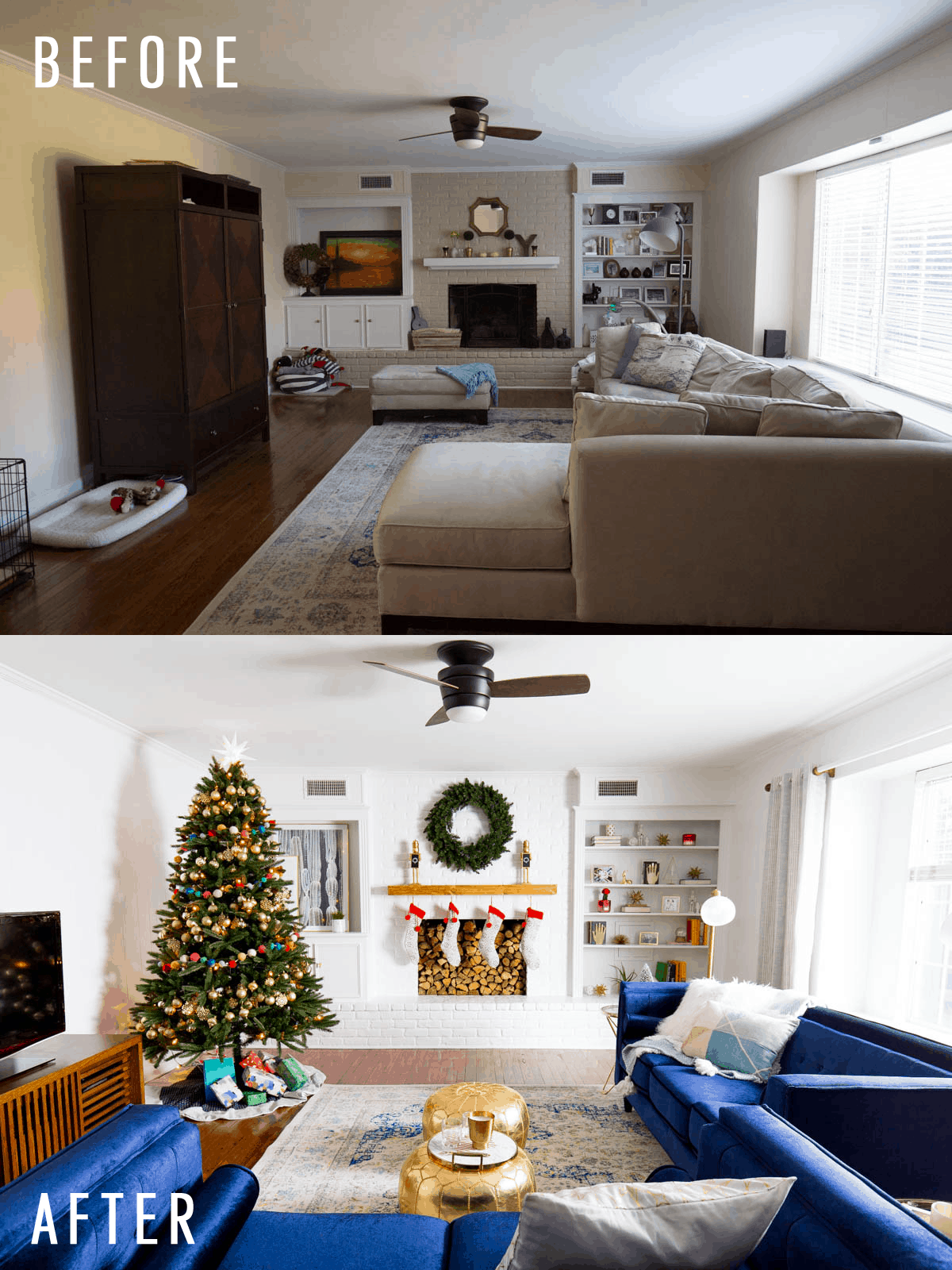 The Holiday Living Room Makeover We Gifted With Lowe S