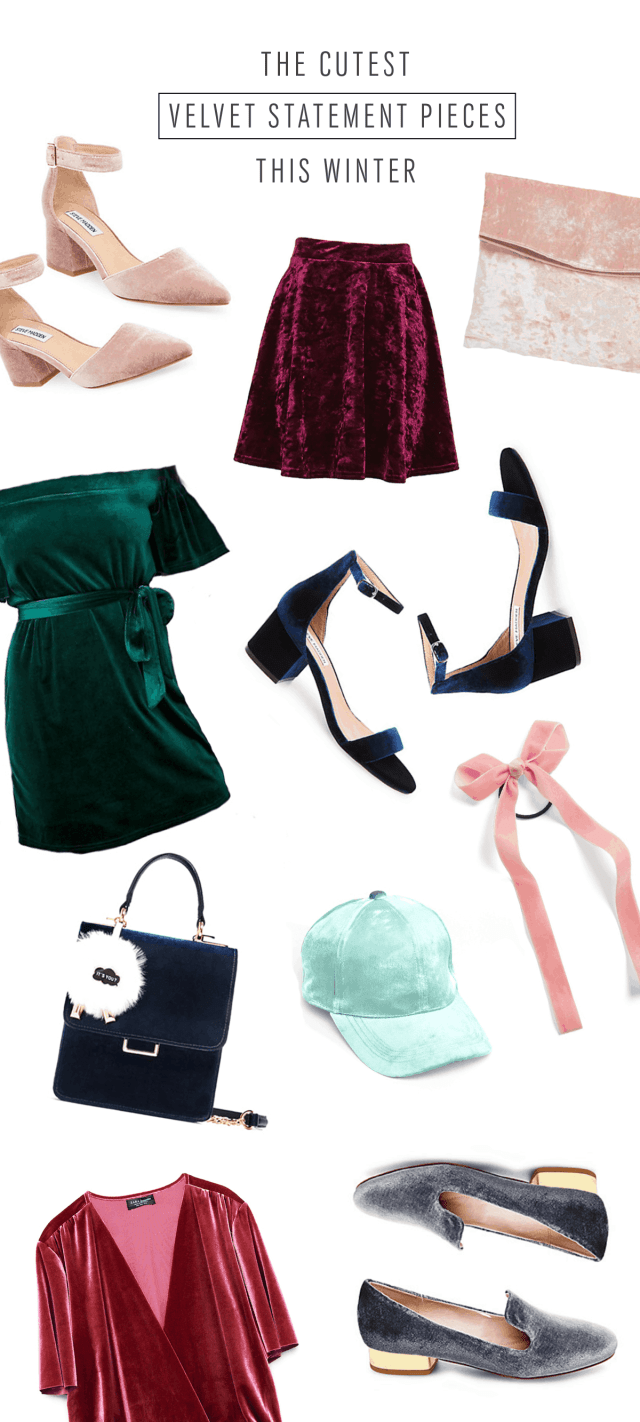 Cutest Velvet Statement Pieces this Winter - Sugar & Cloth - Houston Blogger - Style - Shop - Product Round Up