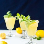 Sparkling Mint Meyer Lemonade by Sugar & Cloth, an award winning DIY and recipe blog.