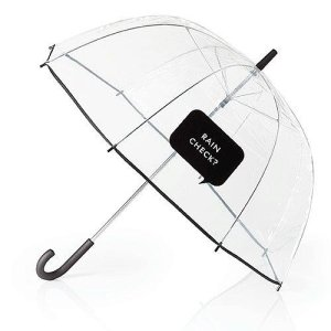 This Kate Spade Clear Umbrella is one of Sugar & Cloth's favorite style finds.