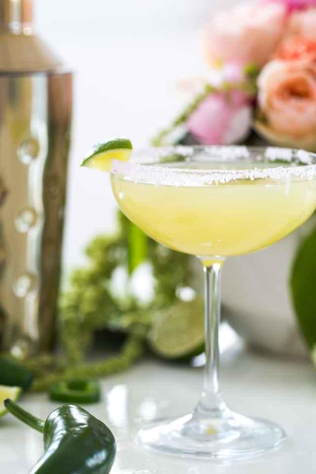 A Skinny Jalapeno Margarita recipe for Cinco de Mayo by top Houston lifestyle blogger Ashley Rose of Sugar & Cloth