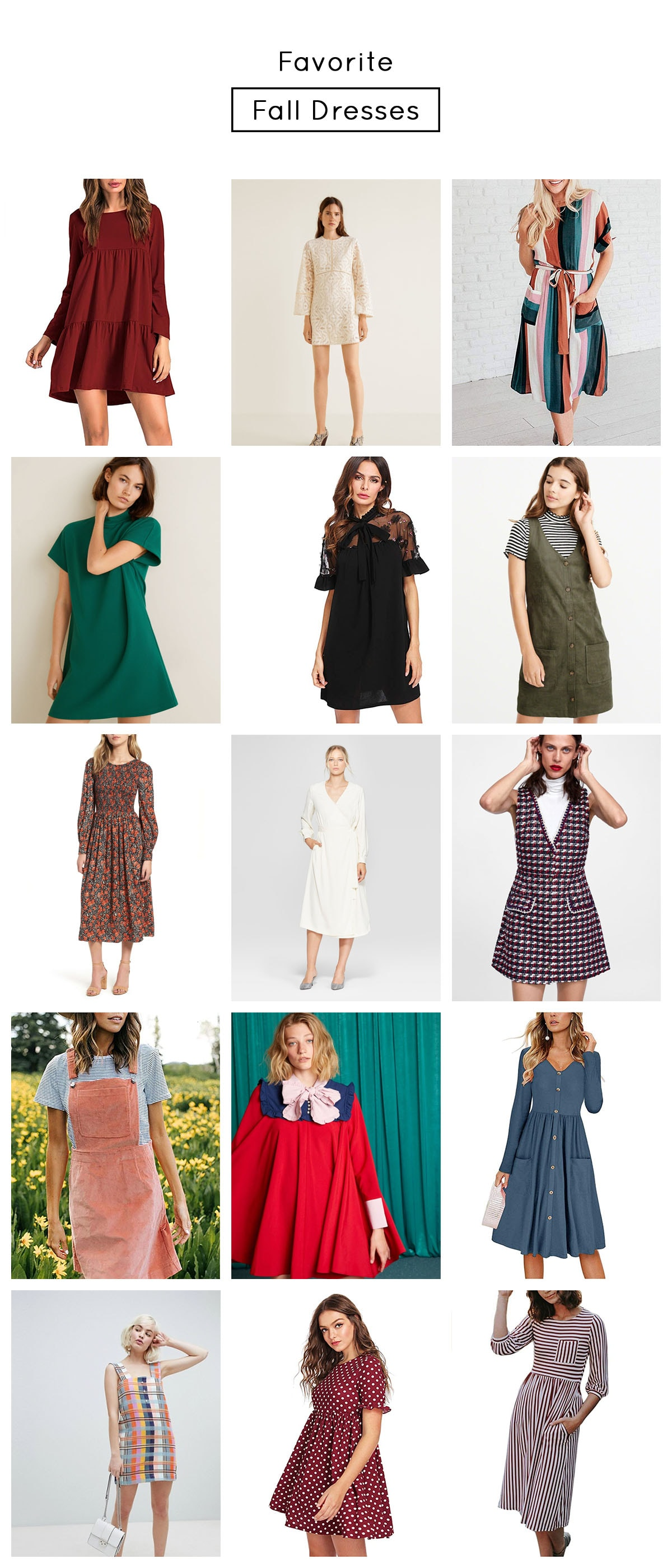 The Cutest Fall Dresses Under 100