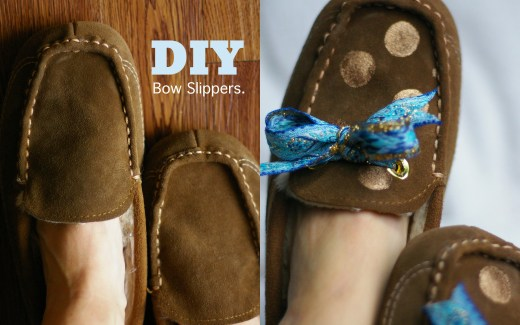 DIY slippers / house shoes