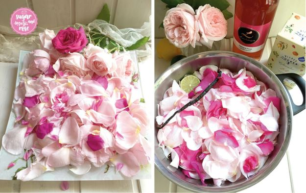 Rosengelee-blüten