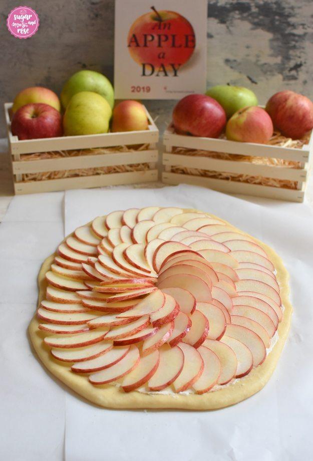 Apfel-Pizza-roh