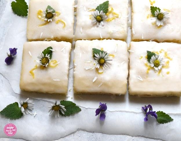 6 Stück Lemonies mit Gänseblümchen und Veilchen (Lemonies with daisies and violetts)