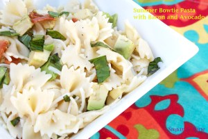 Summer Bowtie Pasta | Sugar and Wine
