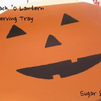 DIY Jack O Lantern Serving Tray