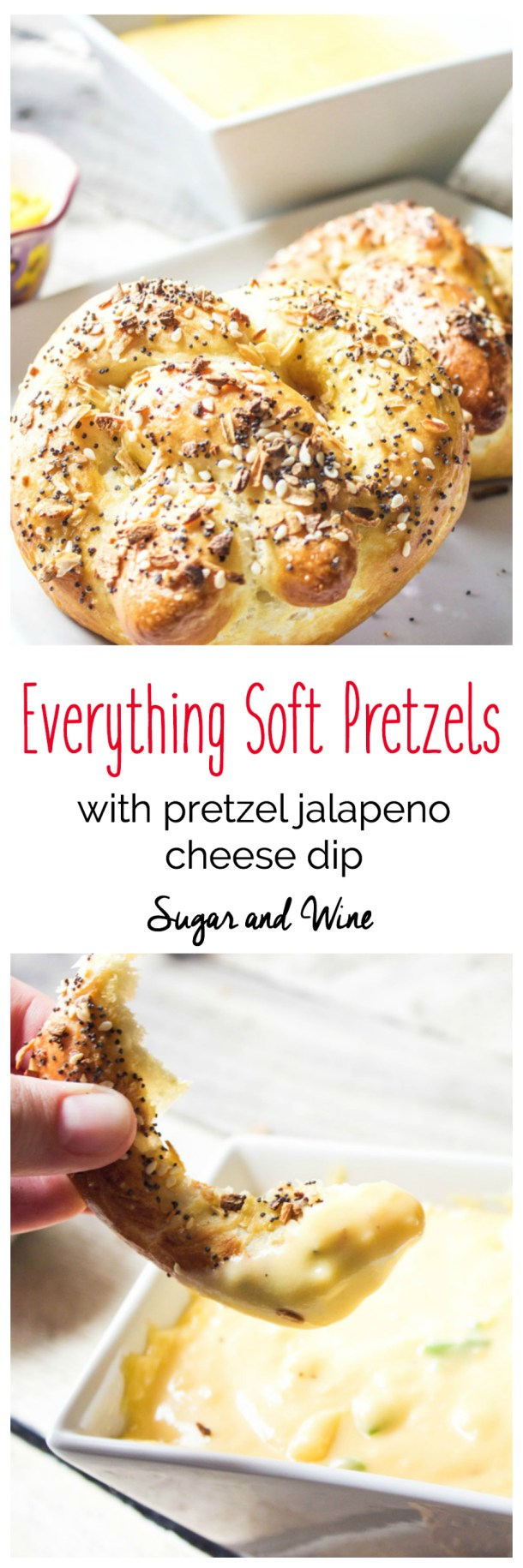 Everything Soft Pretzels | Sugar and Wine