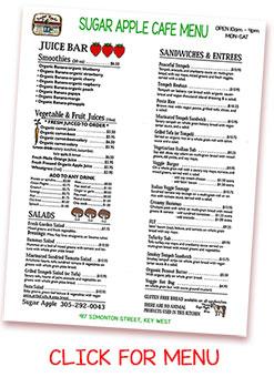 Sugar Apple Cafe   Key West Organic Restaurants