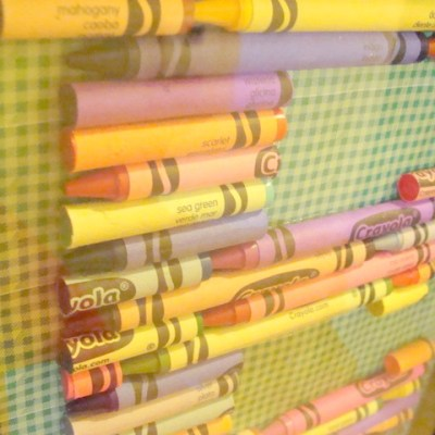 Crayon Monogram Teacher Gift