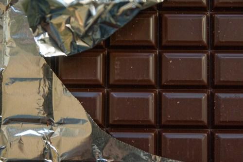 chocolate bar unwrapped