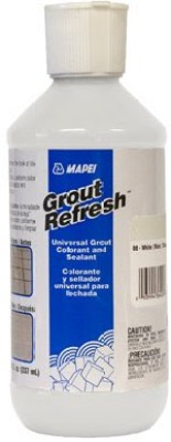 grout refresh color biscuit universal grout colorant and sealant on a white background in a white bottle