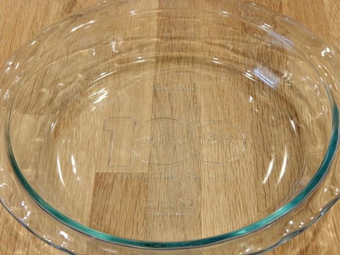 100th anniversary pie plate for lemon meringue pie on SugarBananas.com copy 2