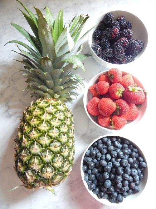 fruit for yogurt on sugar bananas
