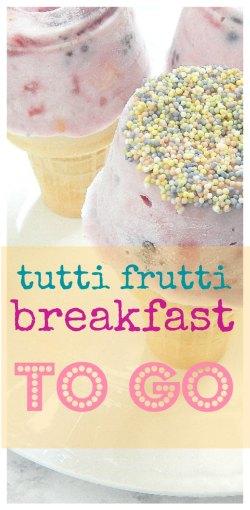 pinnacle image of tutti fruity breakfast to go on sugar bananas