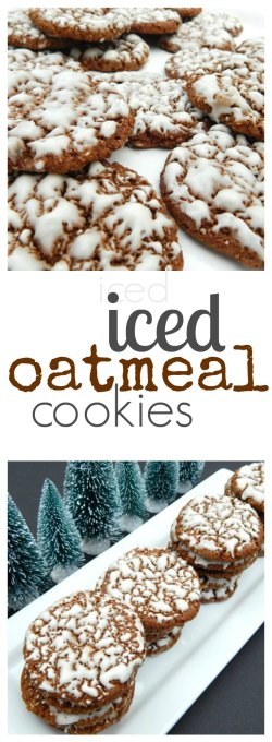 Old Fashioned Iced Oatmeal Cookies on www.sugarbananas.com