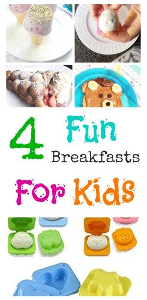 4 Fun Kids' Breakfast Ideas on www.sugarbananas.com